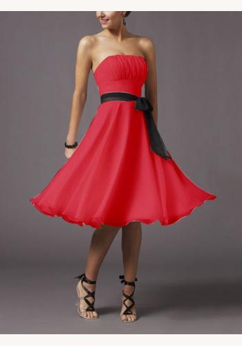 Červené midi korzetové šaty 060f 65a9089f3a