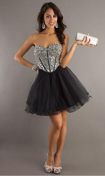 de61476ff27f Čierne mini korzetové šaty s kamienkami 068a - Salón Emily