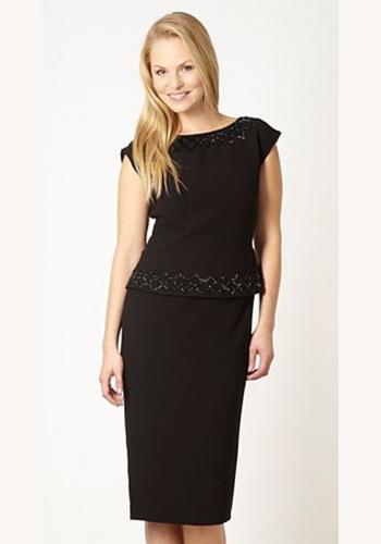 Čierne mini šaty s potlačou s krátkym rukávom 145. Čierne midi dvojdielne  šaty s krátkym rukávom 077 95e08045e9e