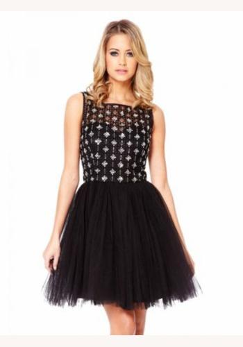 cc1f5378718e Čierne mini šaty bez rukávov 117a