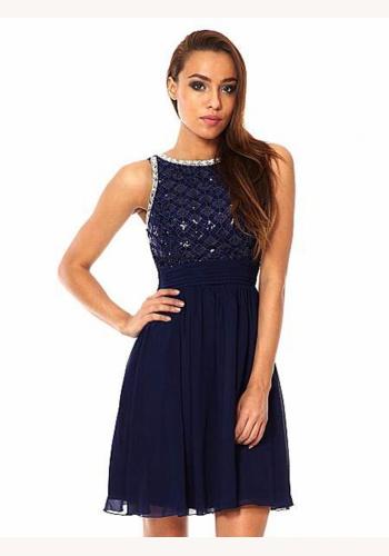 9935e2464427 Modré mini šaty bez rukávov 139