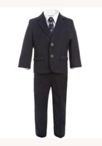 a7f9530b00eb Modrý chlapčenský oblek 005 - Salón Emily