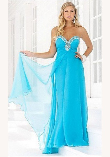 be5e328f2699 Modré dlhé korzetové šaty s flitrami 103E