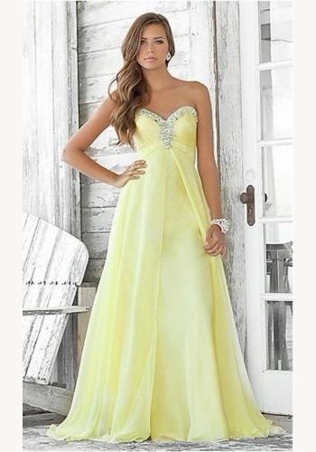fa7ad6210d7e Žlté dlhé korzetové šaty s flitrami 103Ea