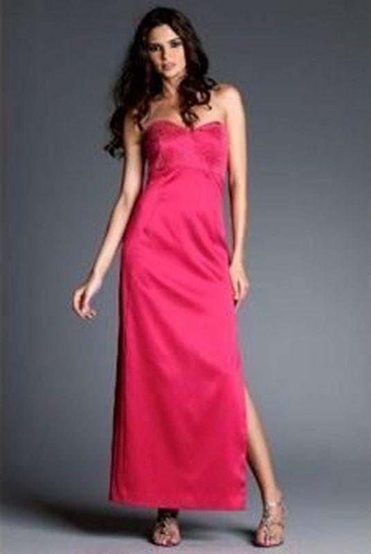 Ružové dlhé úzke korzetové šaty s rozparkom 106NM 52ea719369