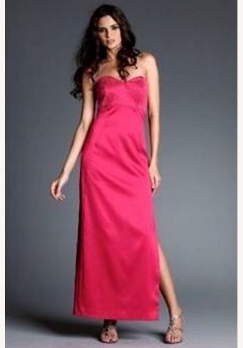 912bdfc8a534 Ružové dlhé úzke korzetové šaty s rozparkom 106NM