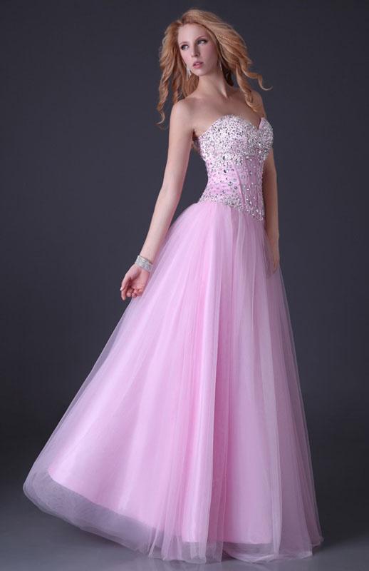 ca77fbb293d1 Ružové dlhé korzetové šaty s kamienkami a flitrami 125GK - Salón Emily