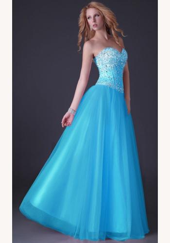 dd710cd80186 Modré dlhé korzetové šaty s kamienkami a flitrami 125GKa
