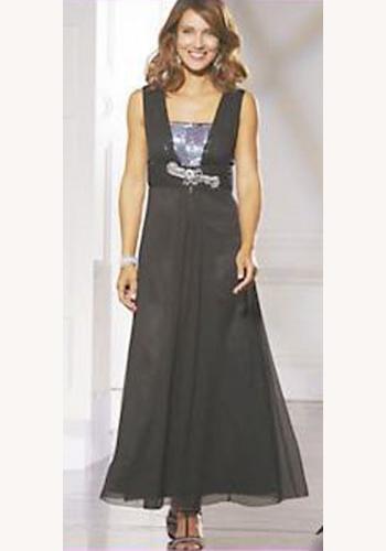 7796129ebdc1 Čierne dlhé šaty s flitrami na ramienka 159BX
