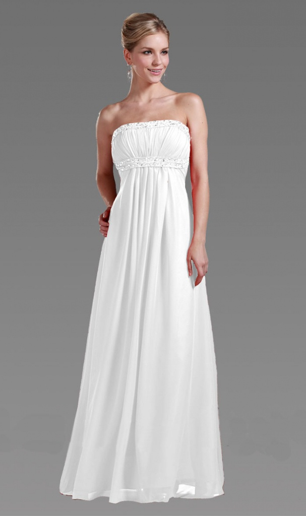 811be78fe07 Biele dlhé korzetové šaty 164a