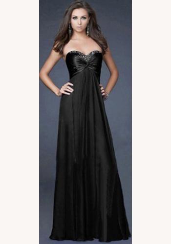 1daeb29f1d41 Čierne dlhé korzetové šaty 185Ee
