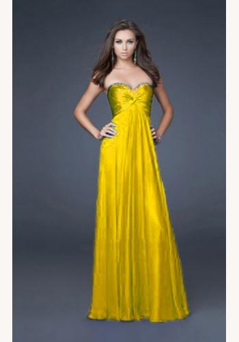 b155ab67d807 Žlté dlhé korzetové šaty 185Em