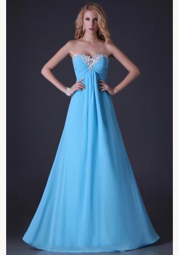 ed0a85f612ff Modré dlhé korzetové šaty s kamienkami 242