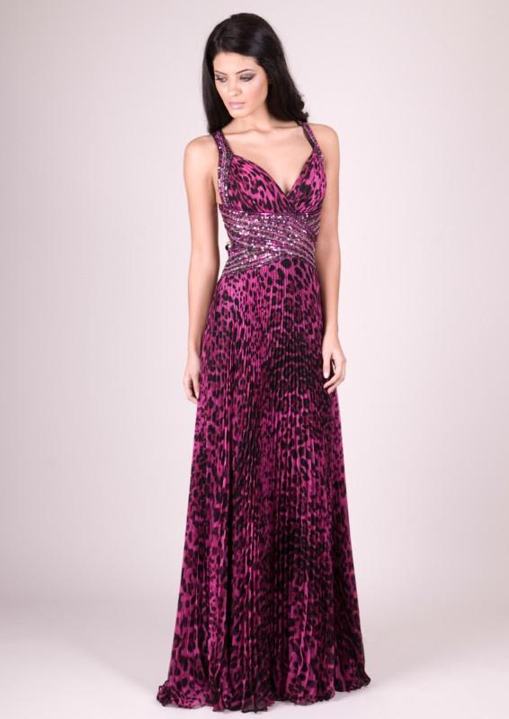 f67432a60ab2 Fialové dlhé šaty s tigrovanou potlačou na ramienka 249