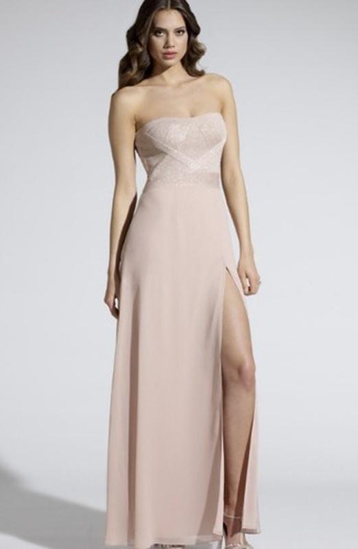 Ružové dlhé korzetové šaty s rozparkom 251 f70382481f