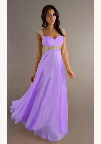d8b59684b574 Svetlofialové dlhé šaty s flitrami na ramienka 258Eb