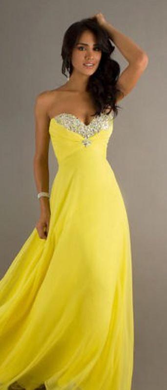 1fbac1b8b2a2 Žlté dlhé korzetové šaty s kamienkami 296 - Salón Emily