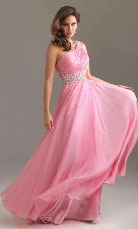 Ružové dlhé šaty na jedno rameno 309 fa511565584