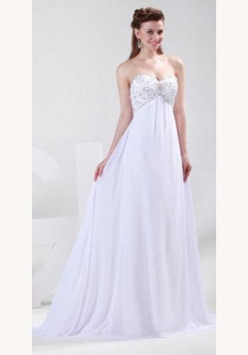 fff7bd556503 Biele dlhé korzetové šaty s korálkami 314