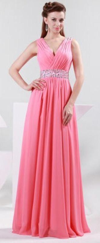 Ružové dlhé šaty s flitrami na ramienka 315 fe740d30fb