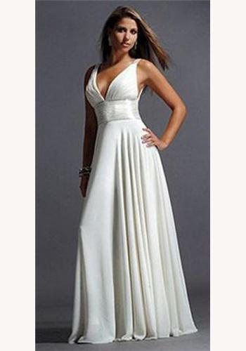 f1e936e48185 Ružové dlhé korzetové šaty s kamienkami 320. Biele dlhé šaty s výstrihom na  ramienka 319