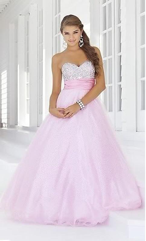 352a34e7a0ae Ružové dlhé korzetové šaty s kamienkami 320 - Salón Emily