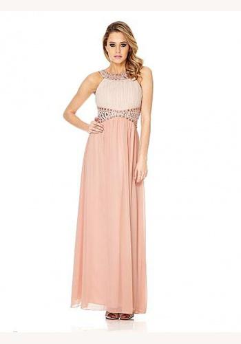 65540e6c2090 Ružové dvojfarebné dlhé šaty bez rukávov 366Qa