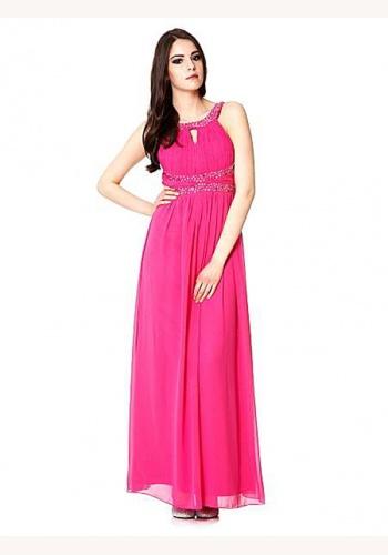 4274418ad480 Ružové dlhé šaty bez rukávov 369Q