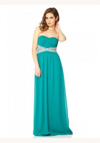 29b975a3e8ce Modré dlhé korzetové šaty s kamienkami 378Q