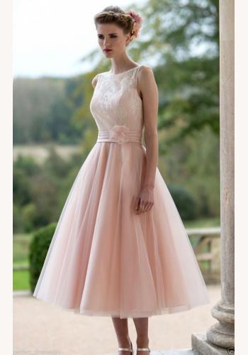 457ee6c812fa Ružové midi šaty s čipkou bez výstrihu a bez rukávov 191