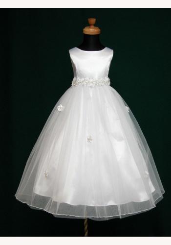 Biele dlhé šaty na 1. sväté prijímanie bez rukávov 045 01014e57150