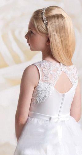Biele dlhé šaty na 1. sväté prijímanie s čipkou bez rukávov 050 a37a5bc6ce0