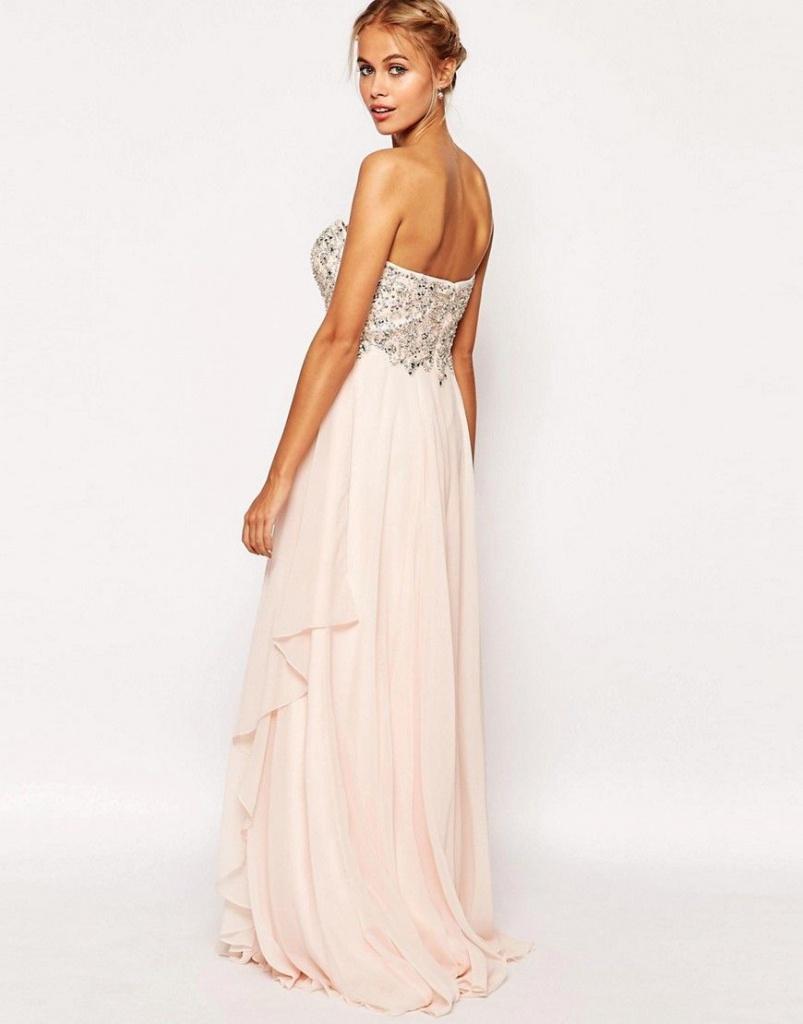 98abe1c17819 Ružové dlhé korzetové šaty s kamienkami 432AR - Salón Emily
