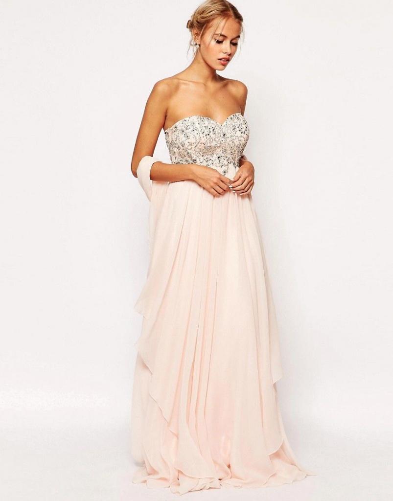 Ružové dlhé korzetové šaty s kamienkami 432AR daced16ce7