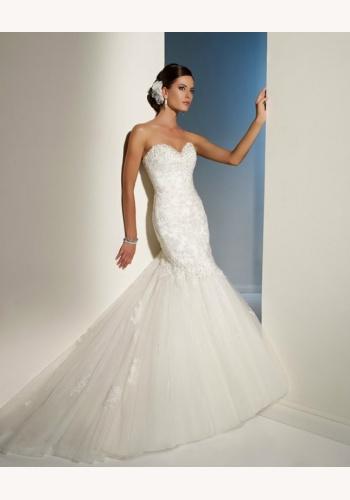 Biele dlhé korzetové svadobné šaty morská panna 051 b5d7d4770c8