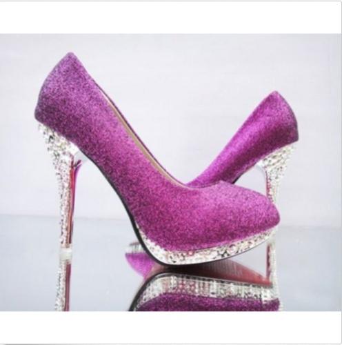 692f5043a541 Fialové spoločenské topánky na platforme s kamienkami 068d - Salón Emily