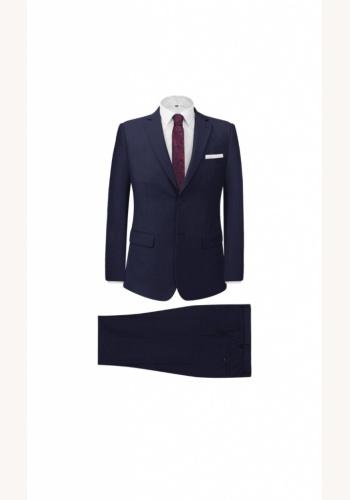 Modrý pánsky oblek slim fit 032b 0618a6b7ac