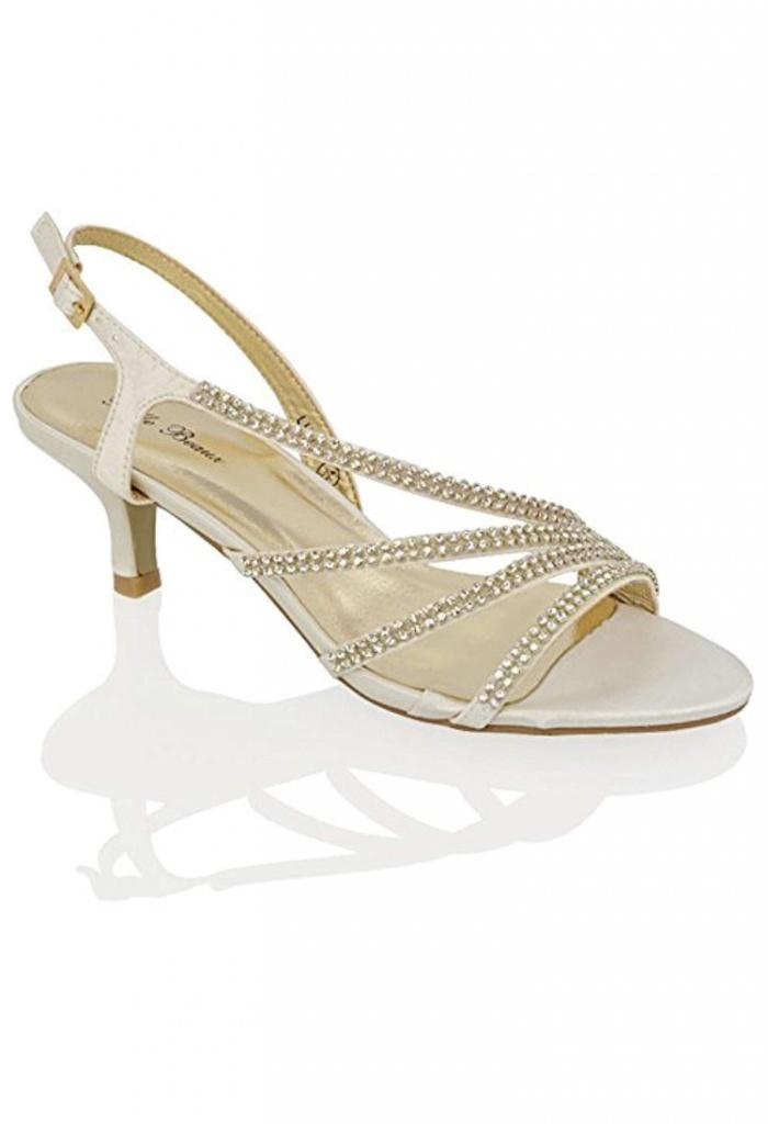 4f473e035 Smotanové svadobné sandále na nízkom opätku 058 - Salón Emily
