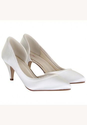 dbe09366a3 Smotanové svadobné topánky na nízkom opätku 056