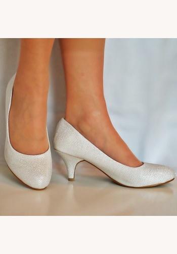 6d221d0867 Smotanové svadobné topánky na nízkom opätku 061