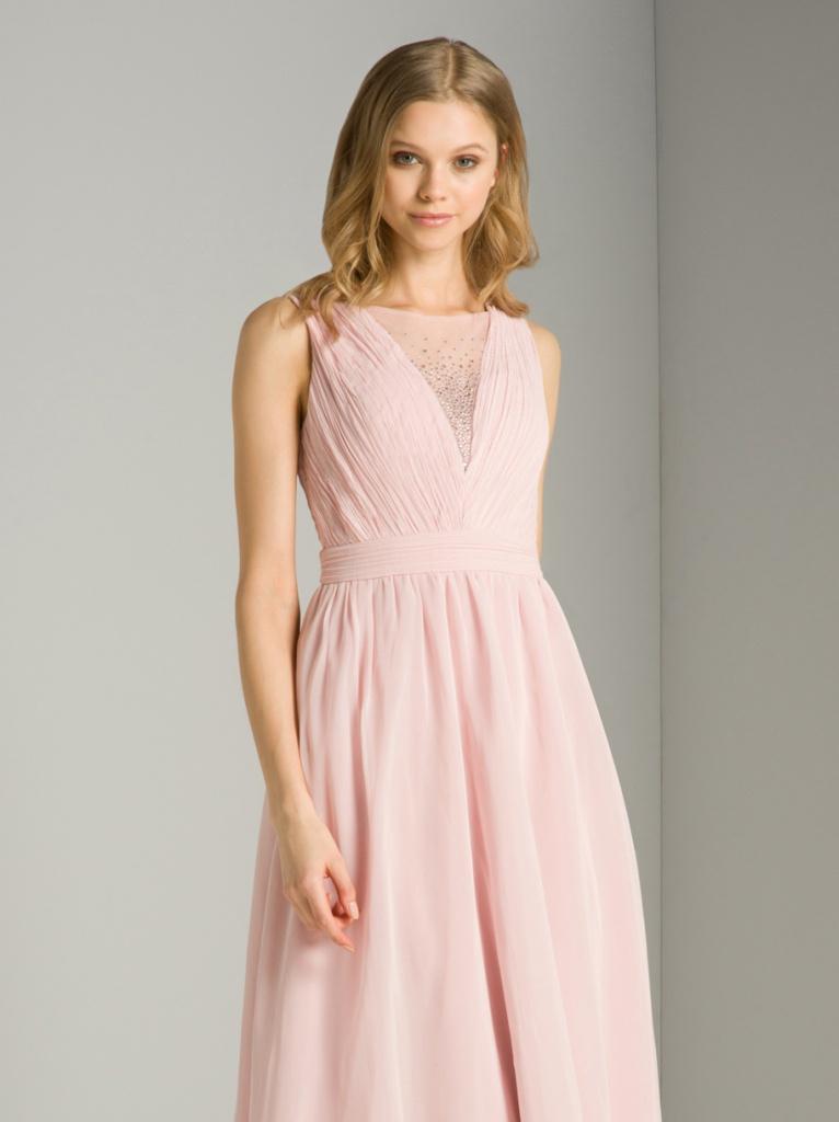 da3715608d86 Ružové dlhé šaty s kamienkami bez rukávov 416Ca - Salón Emily