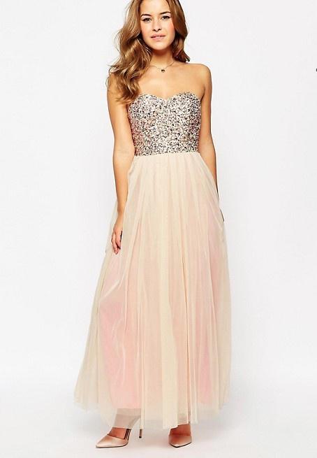 0e6157df6b01 Petite ružové dlhé korzetové šaty s tylovou sukňou 437M - Salón Emily