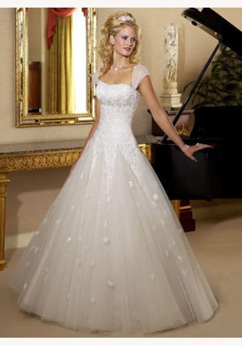 ba0f5ea4d3d4 Biele dlhé svadobné šaty na ramienka 108