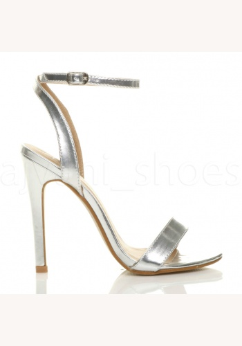 9056274026d6 Strieborné sandále na vysokom opätku 070