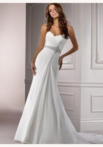 1392983e6c99 Biele dlhé svadobné korzetové šaty v páse s kamienkami 116