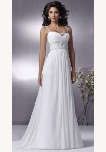 edf4d9f83b12 Biele dlhé svadobné šaty na ramienka 127