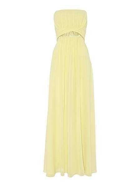 Žlté dlhé korzetové šifónové šaty 418AL a8d5ed1c78e
