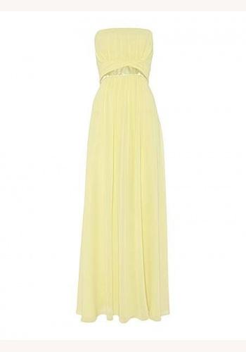 Žlté dlhé korzetové šifónové šaty 418AL ceb2c432b0a