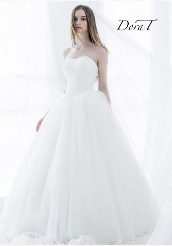 1dd2edf02 Dora T biele dlhé princeznovské korzetové svadobné šaty 237DT