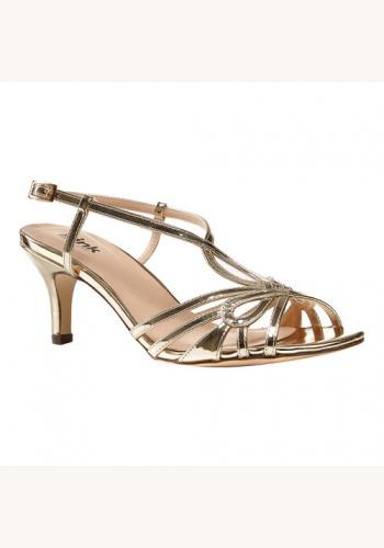 b76a002020a83 Zlaté sandále na strednom opätku 073P